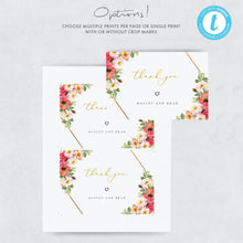 Load image into Gallery viewer, Floral Wedding Thank You Note - Pearly Paper