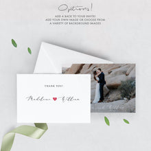 Load image into Gallery viewer, Wedding Thank You Card - Pearly Paper