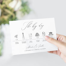 Load image into Gallery viewer, Eucalyptus Wedding Day Timeline - Pearly Paper