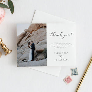 Wedding Thank you photo card - Pearly Paper
