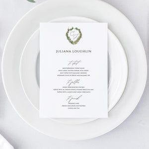 Personalized Wedding Menu Place Card - Pearly Paper