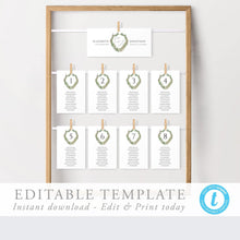 Load image into Gallery viewer, Simple Wedding Seating Cards - Pearly Paper