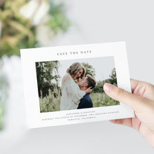 Load image into Gallery viewer, Simple Photo Save the Date - Pearly Paper