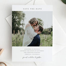 Load image into Gallery viewer, Simple Photo Save the Date Invite - Pearly Paper