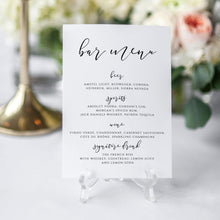 Load image into Gallery viewer, Wedding Bar Menu - Pearly Paper