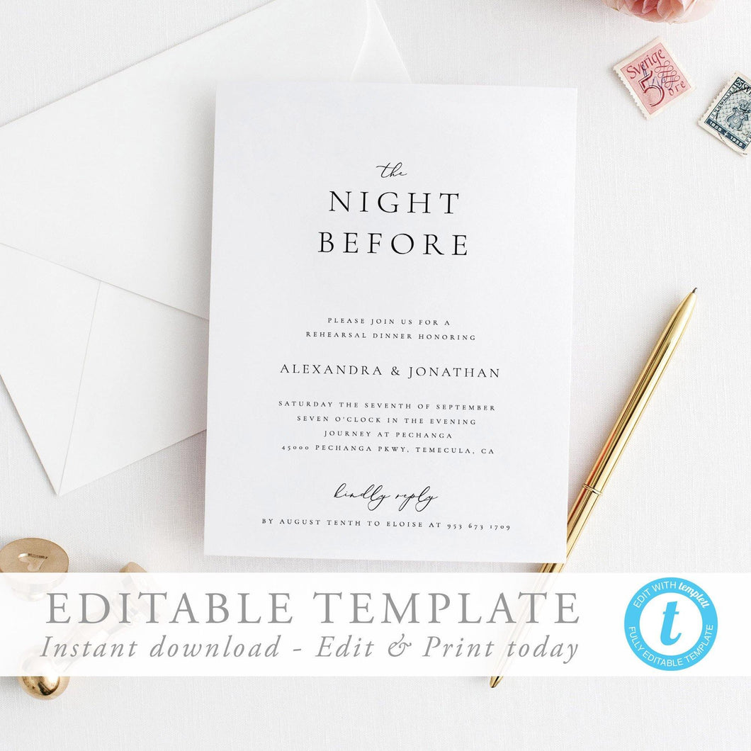 Wedding rehearsal Dinner - Pearly Paper