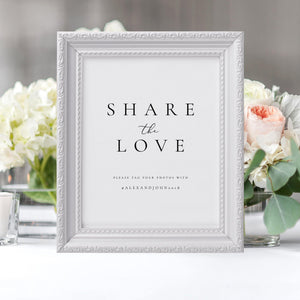 Share the Love Wedding Sign - Pearly Paper