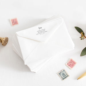 Greenery Envelope Address Template - Pearly Paper