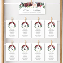 Load image into Gallery viewer, Marsala Seating Chart Cards - Pearly Paper
