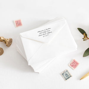 Calligraphy Envelope Address Tenplate - Pearly Paper
