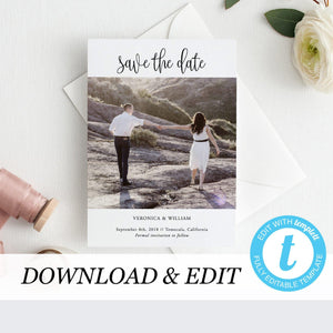 Photo Save the Date Invitation - Pearly Paper