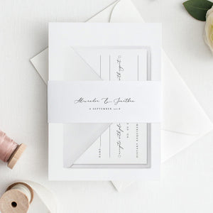 Printable Belly Band Calligraphy Belly - Pearly Paper