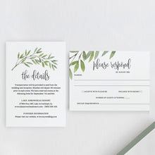Load image into Gallery viewer, Greenery wedding invitation template Boho - Pearly Paper