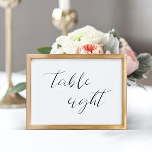 Calligraphy Table Numbers - Pearly Paper