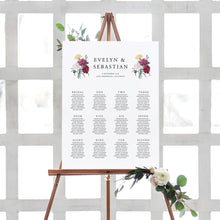 Load image into Gallery viewer, Seating Chart Floral Sign - Pearly Paper