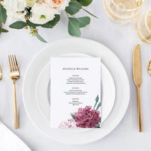 Load image into Gallery viewer, Floral Menu Place Cards - Pearly Paper