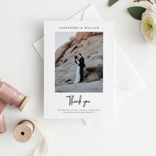 Load image into Gallery viewer, Wedding Thank you photo card - Pearly Paper