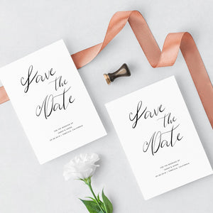 Minimalist Save the Date Invitation - Pearly Paper
