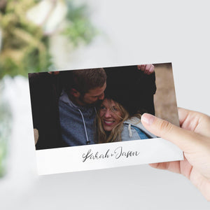 Photo Save the Date Postcard - Pearly Paper