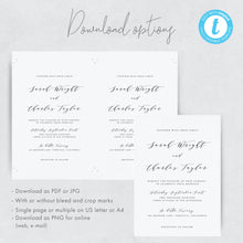 Load image into Gallery viewer, Simple Wedding Invitation Printable Invitation - Pearly Paper