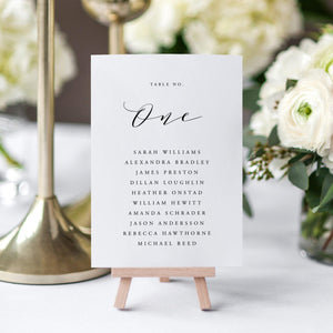 Wedding Table Number Seating Cards - Pearly Paper