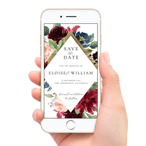 Electronic Save the Date Invite - Pearly Paper