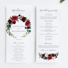 Load image into Gallery viewer, Merlot Ceremony Program - Pearly Paper