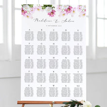 Load image into Gallery viewer, Floral Seating chart Alphabetical - Pearly Paper