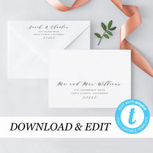 Load image into Gallery viewer, Calligraphy Envelope Address Template - Pearly Paper