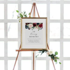 In loving memory sign Burgundy - Pearly Paper