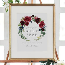 Load image into Gallery viewer, Marsala Guest Book Sign Template - Pearly Paper