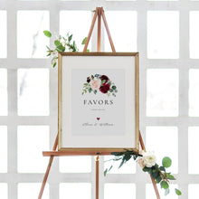 Load image into Gallery viewer, Burgundy Favors Sign Wedding guests - Pearly Paper