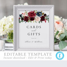 Load image into Gallery viewer, Cards and Gifts Sign Editable - Pearly Paper