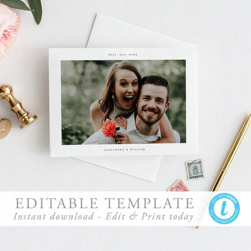 Simple Photo Thank You Card - Pearly Paper