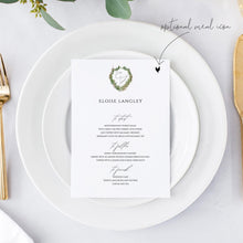 Load image into Gallery viewer, Personalized Wedding Menu Place Card - Pearly Paper