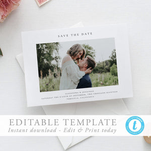 Simple Photo Save the Date - Pearly Paper