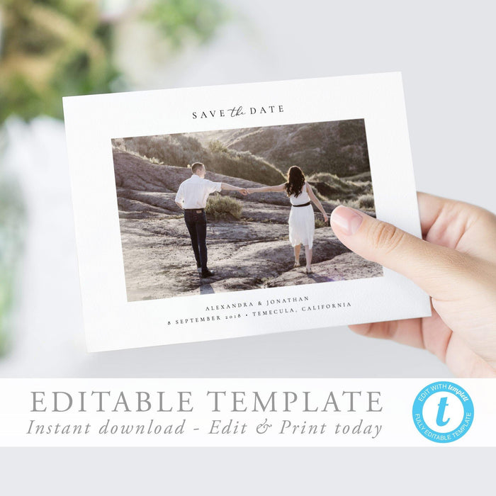 Photo Save the Date Invite - Pearly Paper
