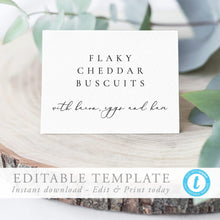 Load image into Gallery viewer, Editable Buffet card template Wedding - Pearly Paper