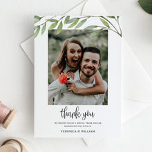 Load image into Gallery viewer, Greenery Wedding Thank You Card - Pearly Paper