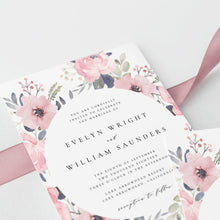 Load image into Gallery viewer, Blush Wedding Invitation Boho wedding - Pearly Paper