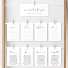 Load image into Gallery viewer, Hanging Seating Chart Cards - Pearly Paper