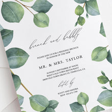 Load image into Gallery viewer, Eucalyptus Wedding Brunch Invite - Pearly Paper