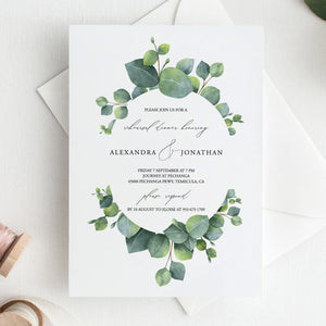 Greenery Wedding rehearsal Dinner - Pearly Paper