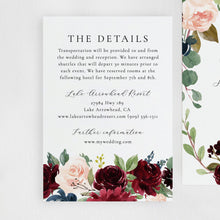 Load image into Gallery viewer, Wedding Invitation Template Merlot and - Pearly Paper