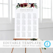 Load image into Gallery viewer, Floral Seating Chart Sign - Pearly Paper
