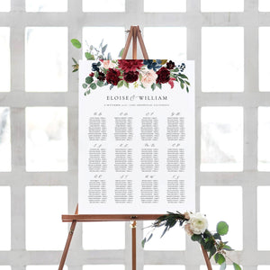 Alphabetical seating chart sign - Pearly Paper