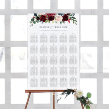 Load image into Gallery viewer, Alphabetical seating chart sign - Pearly Paper
