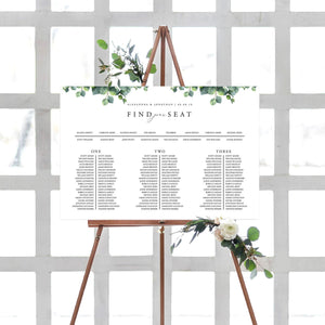 Wedding Table Seating Chart Eucalyptus - Pearly Paper