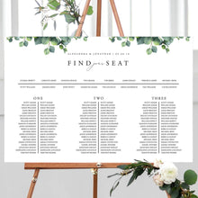 Load image into Gallery viewer, Wedding Table Seating Chart Eucalyptus - Pearly Paper