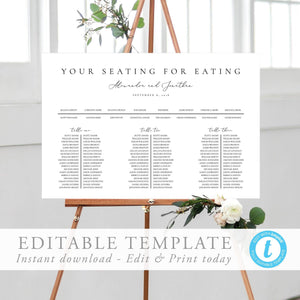 Table seating chart Minimalist - Pearly Paper